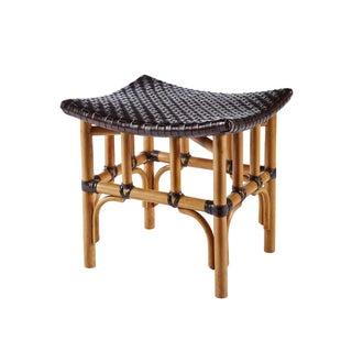 Selamat Designs Nutmeg Leather Woven Stool