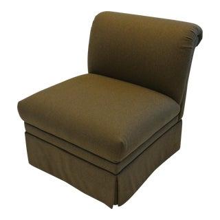 Tailored Brown Slipper Chair