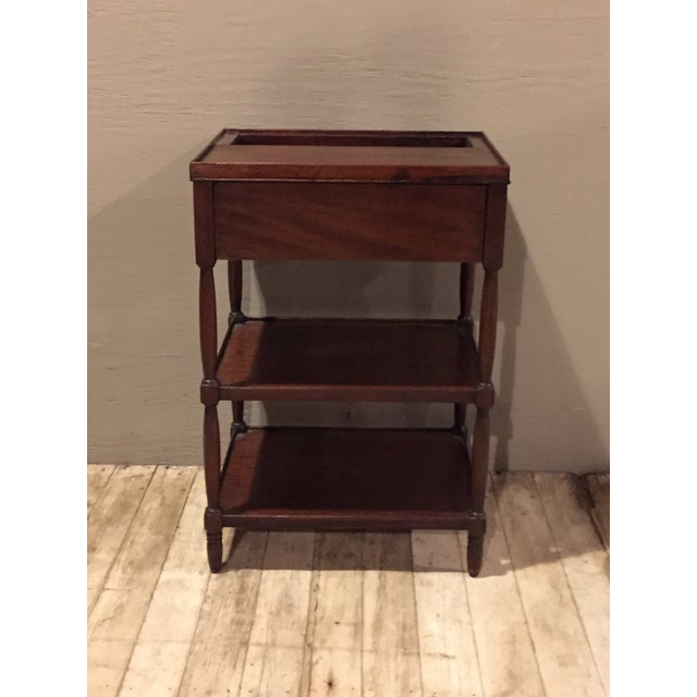 Antique 1900s Tiered Mahogany Table with Basin - Image 2 of 10
