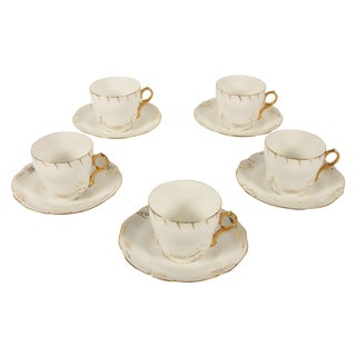 Rorstrand Sweden Tea Cup & Saucer - Set of 5