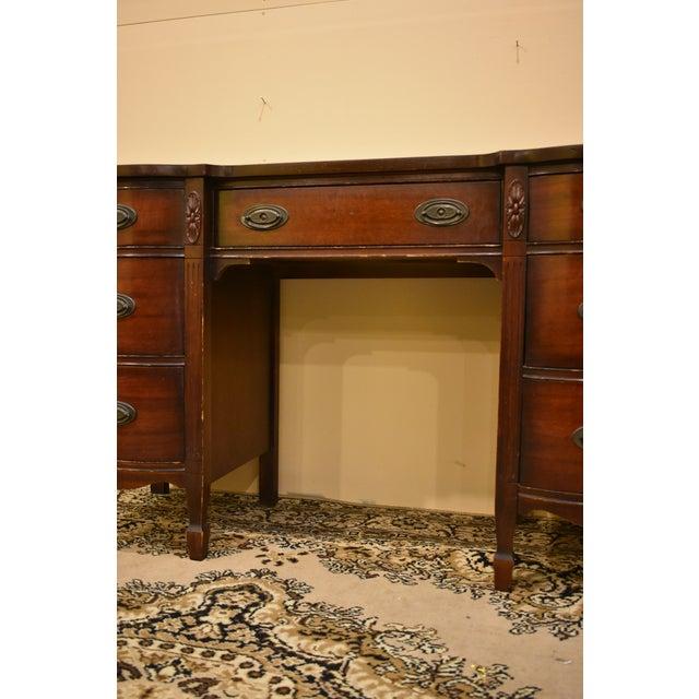 Dixie Furniture Antique Mahogany Desk - Image 5 of 10 - Dixie Furniture Antique Mahogany Desk Chairish
