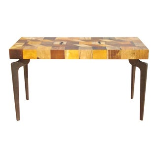 Gajel Metal Leg Console Table