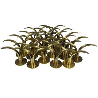 Flock of Brass Candleholders by Ivar Ålenius Björk for Ystad Metall, 1939