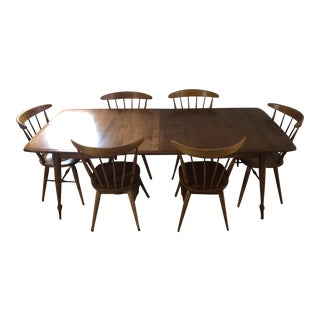 Mid-Century Solid Maple Dining Set