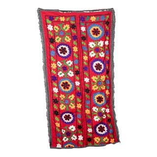 Embroidered Silk Suzani Tapestry