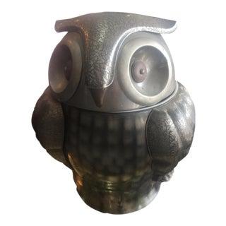 Vintage Metal Mid Century Owl Ice Bucket