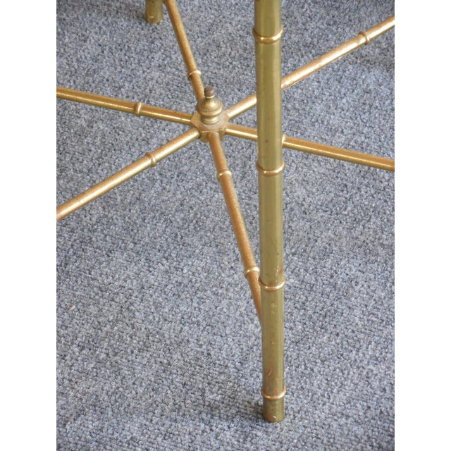 Brass Side Tables by Mastercraft - Pair - Image 7 of 7