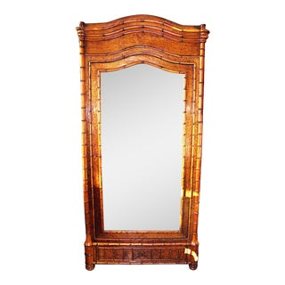 French Faux-Bamboo Armoire signed Balny