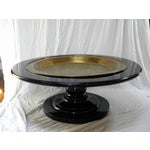Image of Black Lacquer Pedestal Coffee Table