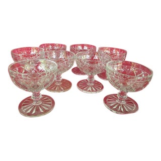 Hocking Glass Footed Sherbet Bowls - Set of 8