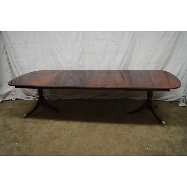 Kindel Flame Mahogany Duncan Phyfe Dining Table - Image 7 of 9