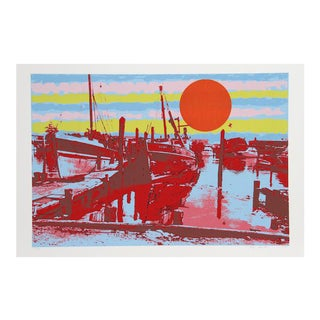 "Max Epstein, ""Freeport Fishing Boats,"" Serigraph"
