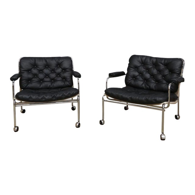 Pethrus Lindlöf Eva Lounge Chairs - A Pair - Image 1 of 7