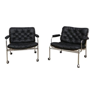 Pethrus Lindlöf Eva Lounge Chairs - A Pair