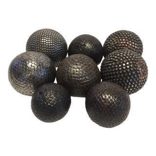 Collection of Decorative Metal Spheres