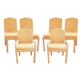 Milo Baughman Style Vintage Dining Room Chairs - Set of 6