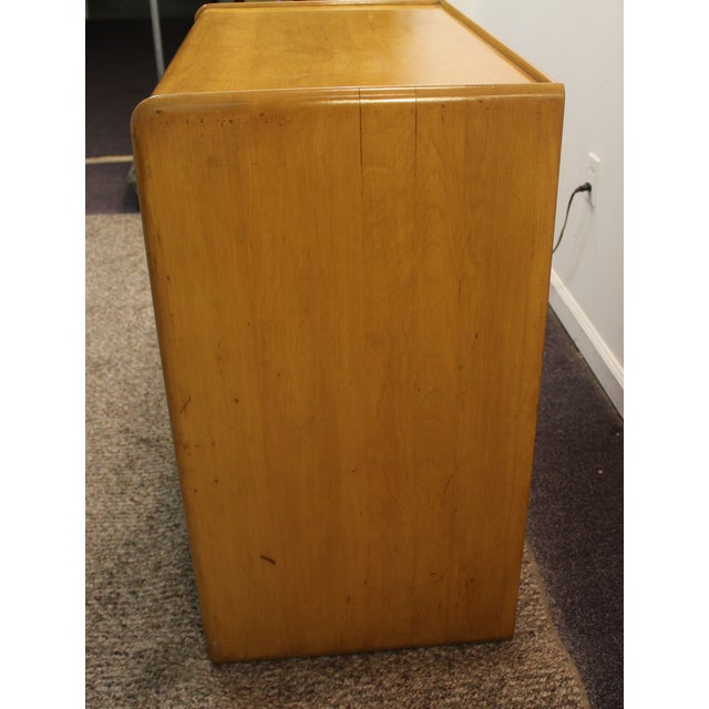 Mid Century Modern Drop-Front Wheat Chest/Dresser - Image 4 of 9