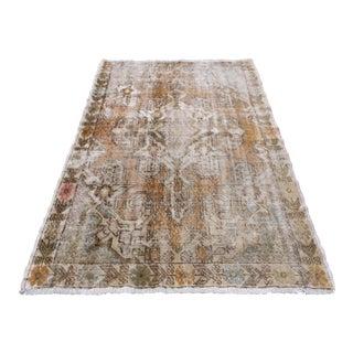Turkish Anatolian Decorative Handwoven Wool Carpet - 4′3″ × 6′10″