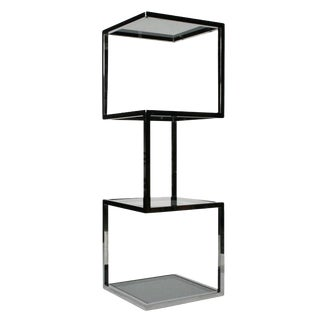 Asymmetrical Stacked Cubes Etagere after Milo Baughman - Set of 3