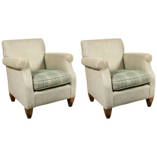 Baker Over Stuffed Armchairs - Pair