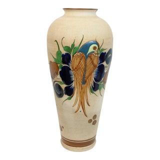 Mexican Tonala Art Pottery Floor Vase