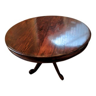 Round Dark Wood Pedestal Dining Table
