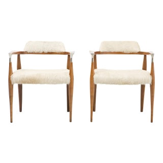 1960's Brazilian Cowhide Accent Chairs - A Pair