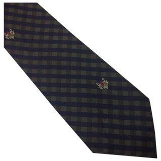 Vintage 1960s Plaid Silk Bachrach Tie