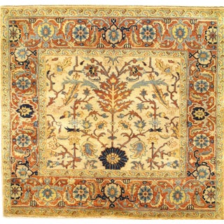 Pasargad N Y Fine Indo Hand-Knotted Serapi Rug - 4' X 4'