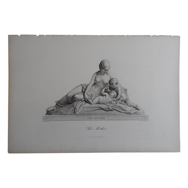 """Antique Engraving """"The Mother"""" Folio Size - Image 1 of 3"""