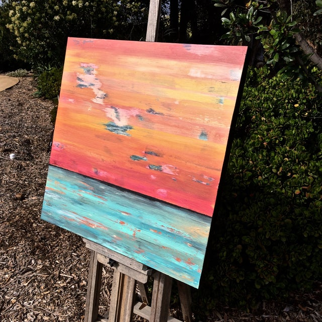 Original Contemporary Abstract Painting - Image 2 of 4