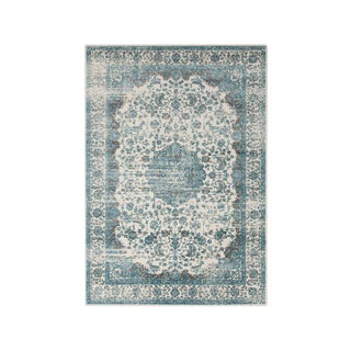 Persian Distressed Light Blue Rug - 8 X 10