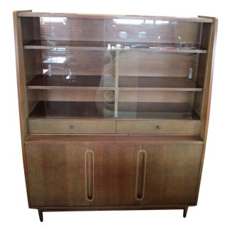 1950's Walnut Vitrine by Kroehler