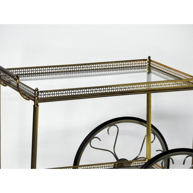 French Modern Rolling Bar Cart - Image 6 of 9