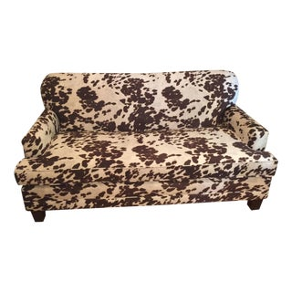 Cowhide Print Sofa