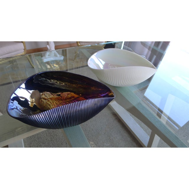 Murano Bowl in Matte Black with Iridescent Colors - Image 6 of 7