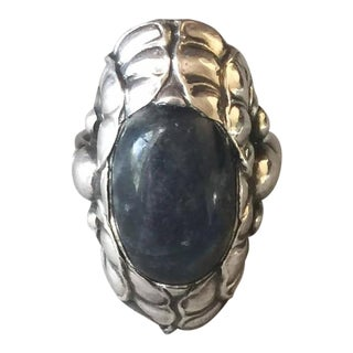 Georg Jensen Sterling Silver Ring No. 11 with Labradorite