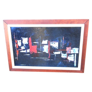 "20th C. Abstract Oil by Bechamp, 20""x29"""