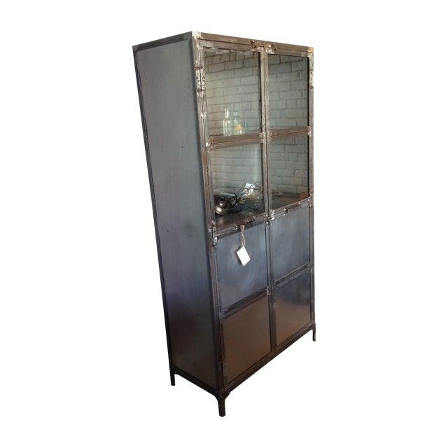 French Industrial Reclaimed Iron & Steel Cabinet - Image 1 of 3