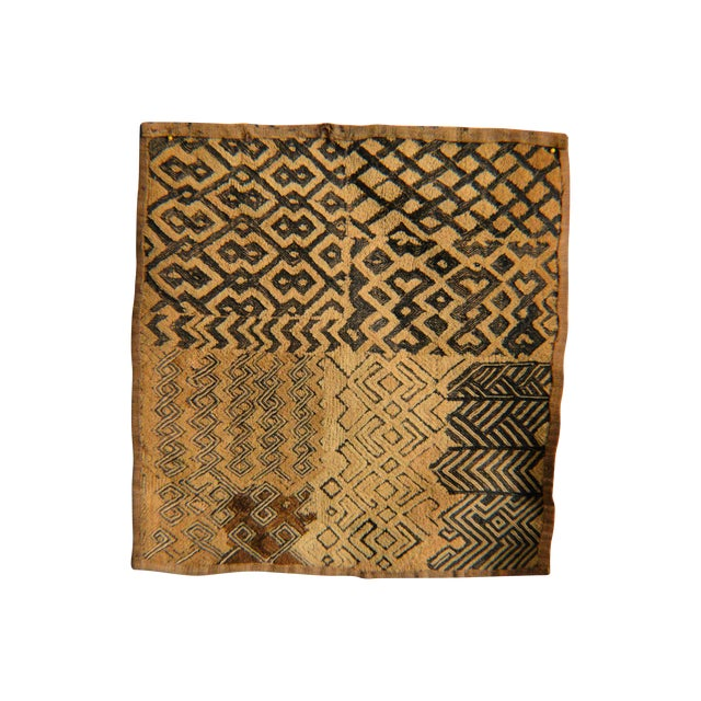 African Kuba Raffia Cloth - Image 1 of 4