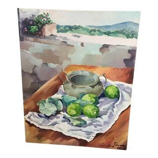 Tuscan Lemons & Landscape Painting