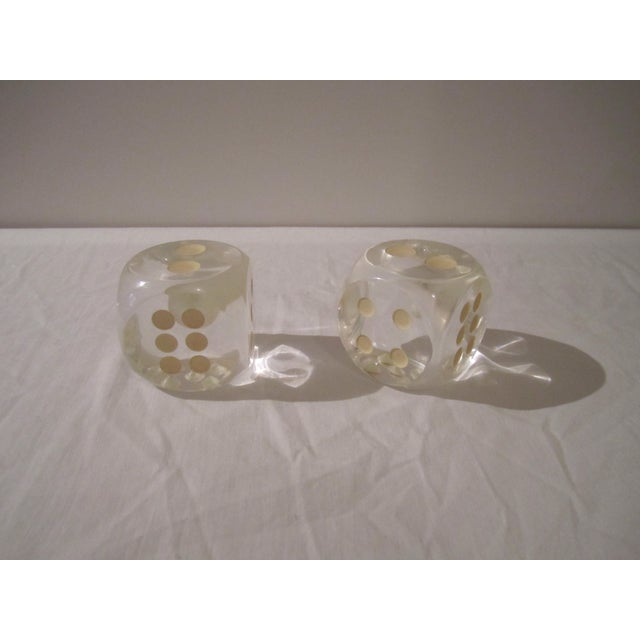 Image of Vintage Lucite Dice - A Pair