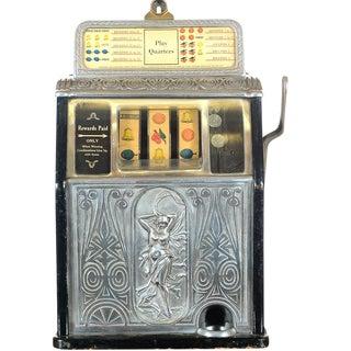 Antique Circa 1920's Art Nouveau Slot Machine