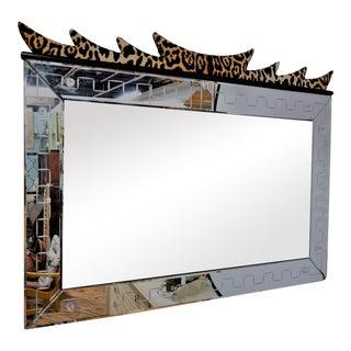 Leopard Fusion Asian Modern Mirror