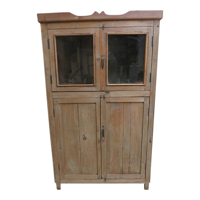 Antique Primitive Hutch China Cabinet Cupboard - Image 1 of 7