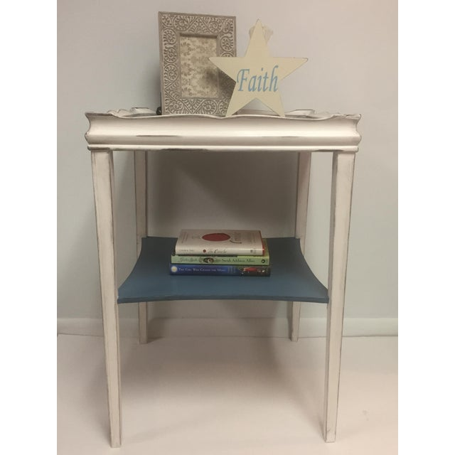Distressed Painted Side Table - Image 6 of 6