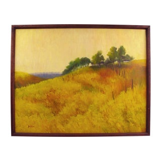 Golden Fields Landscape Oil Painting