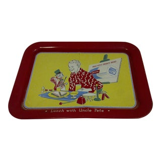 Vintage White Bread Lunch Serving Tray