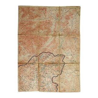 Elizabethtown NY 1894 Distressed Folding Map