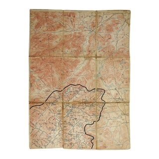 Elizabethtown NY 1894 Distressed Folding Map